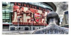 Thierry Henry Statue Emirates Stadium Bath Towel