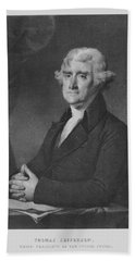 Thomas Jefferson Hand Towel by War Is Hell Store