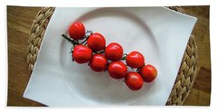 Tomatoes Hand Towel by Cesar Vieira