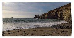 Bath Towel featuring the photograph Trevellas Cove Cornwall by Brian Roscorla