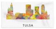 Tulsa Oklahoma Skyline Bath Towel