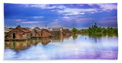 Bath Towel featuring the photograph Village by Charuhas Images