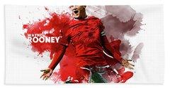 Wayne Rooney Hand Towel by Semih Yurdabak