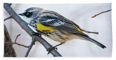 Yellow-rumped Warbler  Hand Towel