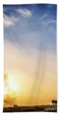 Bath Towel featuring the photograph Misty Mountain Sunrise by Thomas R Fletcher