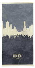 Chicago Illinois Skyline Bath Towel