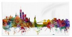New York Skyline Hand Towel