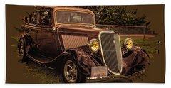 Cool 34 Ford Four Door Sedan Hand Towel