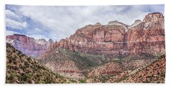 Bath Towel featuring the photograph Zion Canyon National Park Utah by Alex Grichenko