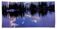 35mm Scan Of Image Lake And Glacier Peak Bath Towel