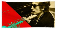 Bob Dylan Collection Hand Towel by Marvin Blaine
