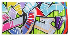 Graffiti Bath Towel by Muhie Kanawati