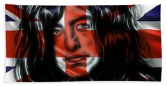 Jimmy Page Collection Hand Towel by Marvin Blaine
