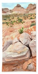 Hand Towel featuring the photograph Multicolored Sandstone In Valley Of Fire by Ray Mathis