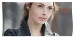Gal Gadot Art Hand Towel by Best Actors