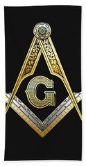 3rd Degree Mason - Master Mason Masonic Jewel  Bath Towel