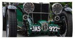 1935 M G Type N Green Racing Car Hand Towel