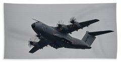 Hand Towel featuring the photograph Airbus A400m by Shirley Mitchell