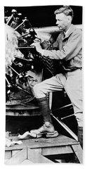 Charles Lindbergh Hand Towel