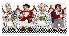 4 Chefs Hand Towel by John Keaton