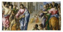 Christ Healing The Blind Hand Towel