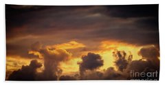 Cloudscape Of Orange Sunset Riga Latvia Artmif Bath Towel
