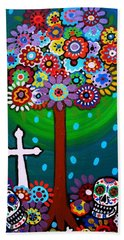 Day Of The Dead Hand Towel by Pristine Cartera Turkus