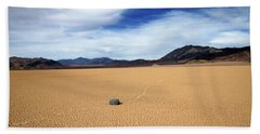 Bath Towel featuring the photograph Death Valley Racetrack by Breck Bartholomew