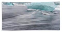 Bath Towel featuring the photograph Diamonds Floating In Beaches, Iceland by Pradeep Raja PRINTS