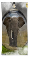 Elephant Art Hand Towel