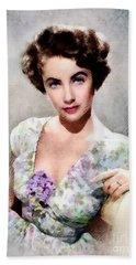 Elizabeth Taylor, Vintage Hollywood Legend Hand Towel