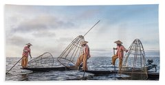 Fisherman Inle Lake - Myanmar Bath Towel