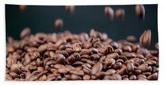 Fresh Roasted Coffe Beans Hand Towel