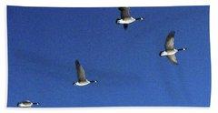 4 Geese In Flight Hand Towel