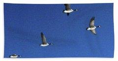 4 Geese In Flight Bath Towel