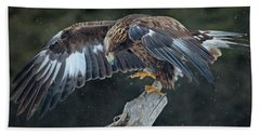 Golden Eagle Bath Towel by CR Courson
