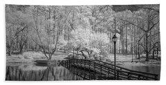 Bridge Over Water Hand Towel by Denis Lemay