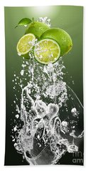 Lime Splash Hand Towel