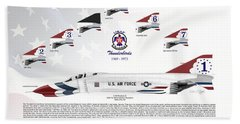 Mcdonnell Douglas F-4e Phantom II Thunderbirds Bath Towel by Arthur Eggers