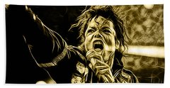 Michael Jackson Collection Hand Towel by Marvin Blaine