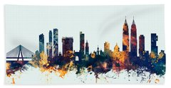 Mumbai Skyline India Bombay Bath Towel