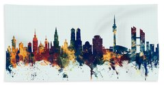 Munich Germany Skyline Bath Towel