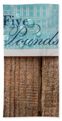 New Uk Five Pound Note Hand Towel