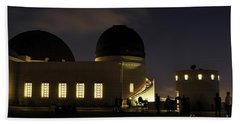 Night At Griffeth Observatory Hand Towel