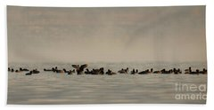 Hand Towel featuring the photograph One Autumn Day At Ognyanovo Dam by Jivko Nakev