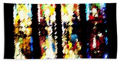 Bath Towel featuring the digital art 4 Panels Of Seville Abstract by Donna Corless