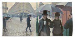 Paris Street, Rainy Day Hand Towel by Gustave Caillebotte
