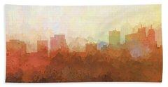 Bath Towel featuring the digital art Parsippany New Jersey Skyline by Marlene Watson