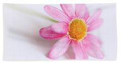 Pink Aster Flower Hand Towel by Nick Biemans