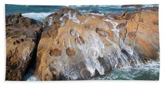 Point Lobos Concretions Bath Towel by Glenn Franco Simmons